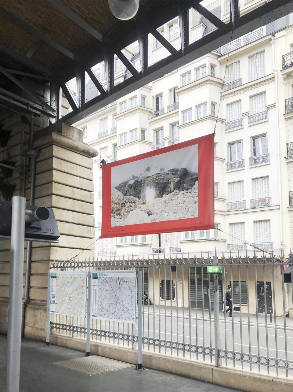 Presenting works in 11 Metro stations in Paris, France, 2021