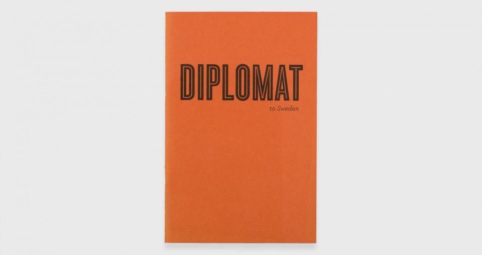 To Sweden, Diplomat Pamphlet, USA, 2012